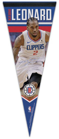 Kawhi Leonard Los Angeles Clippers Signature-Series Premium Felt Collector's Pennant - Wincraft 2019