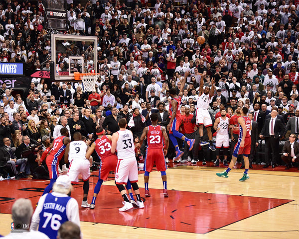 "Kawhi Leonard ""The Bounce"" Toronto Raptors 2019 NBA Playoffs Game 7 Premium 16x20 Poster Print - Highland Mint"