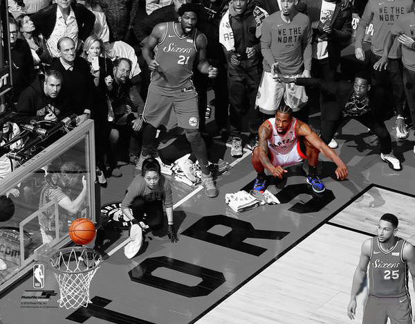 "*SHIPS 6/21* Kawhi Leonard ""The Bounce"" Toronto Raptors 2019 NBA Playoffs Game 7 Premium 20x24 Poster Print - Photofile"