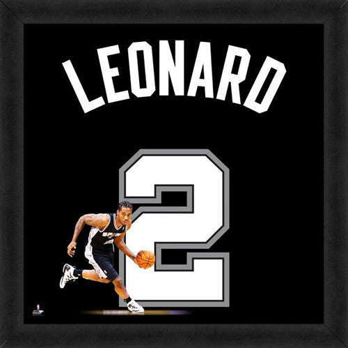 "Kawhi Leonard ""Number 2"" San Antonio Spurs NBA FRAMED 20x20 UNIFRAME PRINT - Photofile"