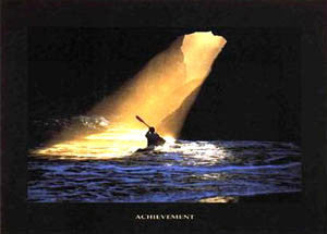 "Kayaking ""Achievement"" Motivational Poster - Verkerke 1998"