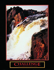 "Kayaking ""Challenge"" Motivational Poster - Front Line"