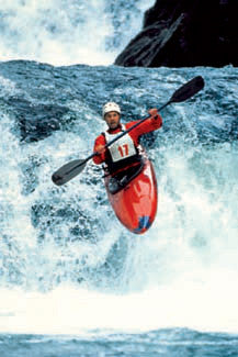 "Kayaking ""Airtime"" Action Poster - Nuova"