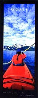 "Kayaking ""Goals"" Motivational Poster - Front Line (12x36)"
