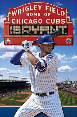 "Kris Bryant ""Wrigley Superstar"" Chicago Cubs MLB Baseball Wall Poster - Trends"