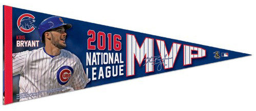 Kris Bryant 2016 National League MVP Chicago Cubs Premium Felt Commemorative Pennant - Wincraft