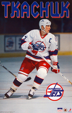 "Keith Tkachuk ""Captain Classic"" Winnipeg Jets NHL Action Poster - Starline Inc. 1995"