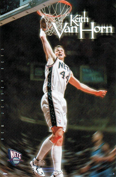 "Keith Van Horn ""Slam-Dunk Superstar"" New Jersey Nets Poster - Costacos 1999"