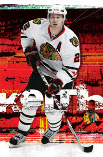 "Duncan Keith ""Defender"" Chicago Blackhawks Poster - Costacos Sports"