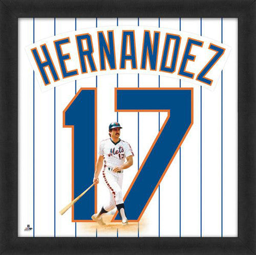 "Keith Hernandez ""Number 17"" New York Mets MLB FRAMED 20x20 UNIFRAME PRINT - Photofile"