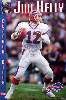 "Jim Kelly ""Classic"" Buffalo Bills Vintage Original NFL Poster - Costacos 1992"