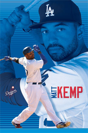 "Matt Kemp ""California Crusher"" L.A. Dodgers MLB Action Poster - Costacos 2013"