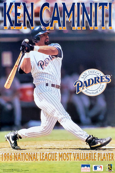 "Ken Caminiti ""MVP"" San Diego Padres MLB Action Poster - Starline 1996"