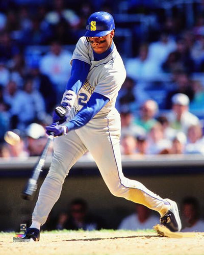 "Ken Griffey Jr. ""Young Junior Blast"" (1991) Seattle Mariners Premium Poster Print - Photofile 20x24"