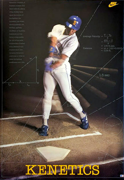 "Ken Griffey Jr. ""Kenetics"" Seattle Mariners Poster - Nike Inc. 1990"