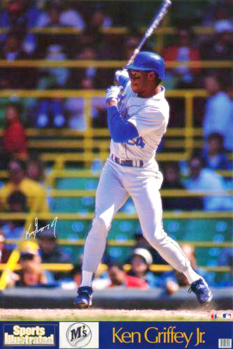 "Ken Griffey Jr. ""Rookie Blast"" Seattle Mariners Signature Series Poster - Marketcom/Sports Illustrated 1989"
