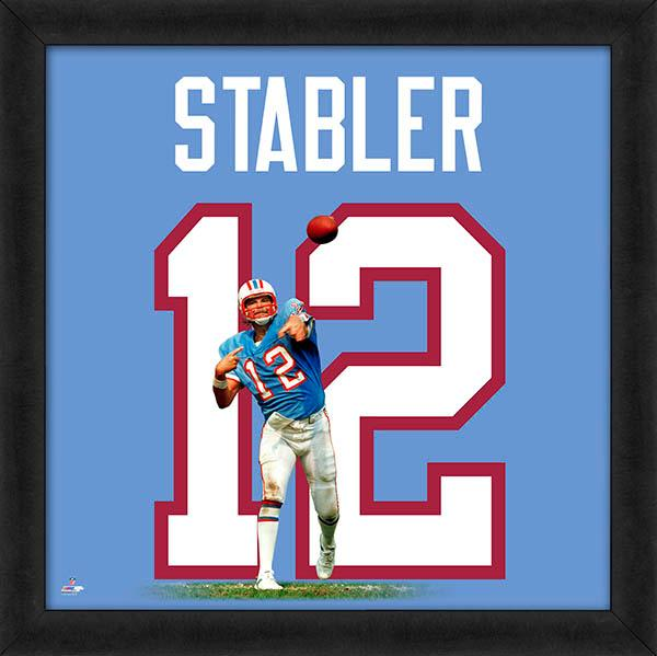 "Ken Stabler ""Number 12"" Houston Oilers NFL Classic FRAMED 20x20 UNIFRAME PRINT - Photofile"