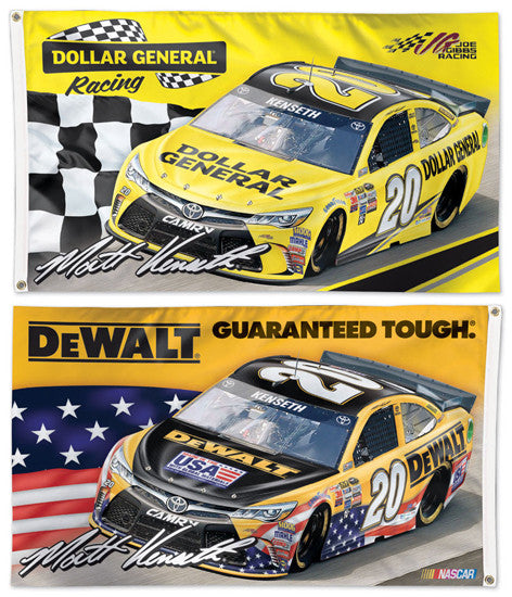 Matt Kenseth NASCAR #20 Dollar General/DeWalt Huge 3' x 5' 2-Sided Deluxe Flag - Wincraft 2016