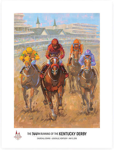 Official Poster of the 144th Kentucky Derby (2018) Horse Racing Poster (Artist Lynn Dunbar)