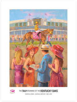Official Poster of the 144th KENTUCKY OAKS (2018) Horse Racing Poster (Artist Jim Cantrell)