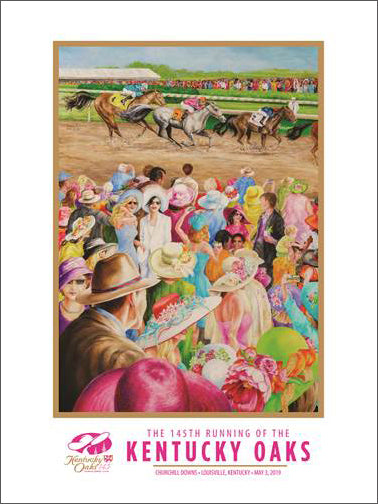 Official Poster of the 145th KENTUCKY OAKS (2019) Horse Racing Poster (Artist Rhonda McEnroe)
