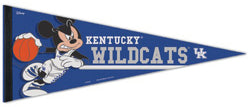 "Kentucky Wildcats Basketball ""Mickey Mouse Point Guard"" Official Disney NCAA Premium Felt Collector's Pennant - Wincraft Inc."