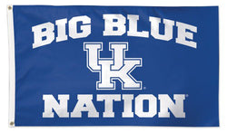 "University of Kentucky Wildcats ""Big Blue Nation"" Official NCAA Deluxe 3'x5' Team Flag - Wincraft"