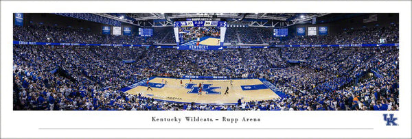 Kentucky Wildcats Basketball Rupp Arena Game Night Panoramic Poster Print - Blakeway 2020