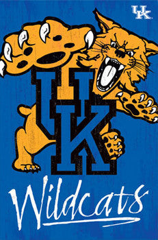 University of Kentucky Wildcats Official NCAA Team Logo Poster - Costacos Sports