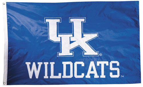 Kentucky Wildcats Official NCAA Premium Nylon Applique 3'x5' Flag - BSI Products Inc.