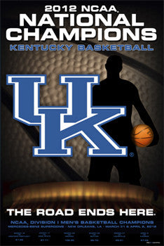 Kentucky Wildcats 2012 Men's Basketball Champions Commemorative Poster - Prographs