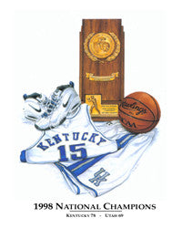 Kentucky Wildcats Basketball 1998 National Champions Commemorative - Smashgraphix