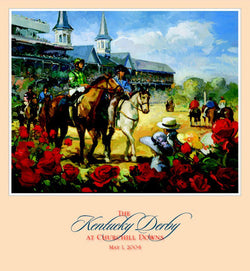 Official Poster of the 2004 Kentucky Derby Horse Racing Poster (Artist Francis Livingston)
