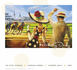 Official Poster of the 2008 Kentucky Derby Horse Racing Poster (Artist Trish Biddle) - JettStream