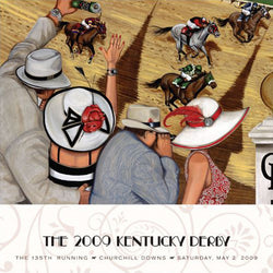 Official Poster of the 2009 Kentucky Derby Horse Racing Poster (Artist Jeff Williams) - JettStream