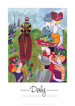 Official Poster of the 2010 Kentucky Derby Horse Racing Poster (Artist Linda Le Kinff) - JettStream