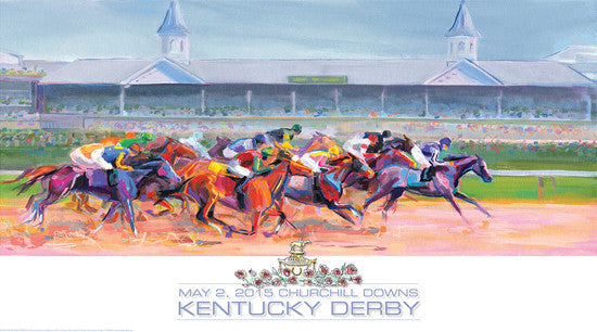 Official Poster of the 2015 Kentucky Derby Horse Racing Poster (Artist Kimberly Santini)