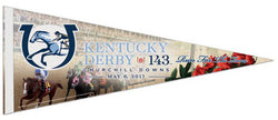 The 143rd Kentucky Derby (2017) Official Premium Felt Commemorative Pennant - Wincraft