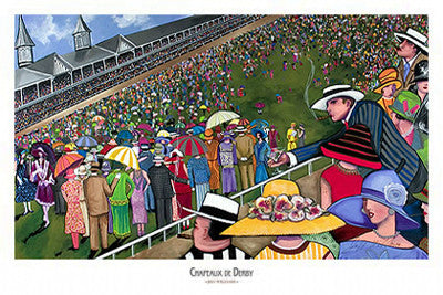 Chapeaux de Derby (Kentucky Derby Hats) by Jeff Williams Art Poster Print