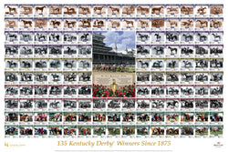 "Kentucky Derby ""135 Winners"" Horse Racing Premium Poster Print - Smashgraphix Inc."