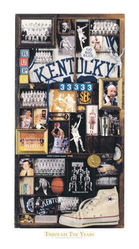 "Kentucky Wildcats Basketball ""Through the Years"" Premium Poster Print - Smashgraphix Inc."