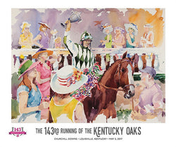 Official Poster of the 143rd KENTUCKY OAKS (2017) Horse Racing Poster (Artist Jim Cantrell)