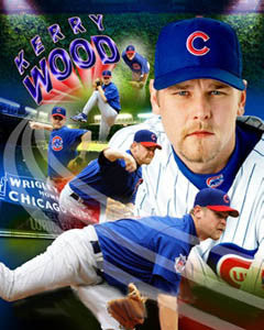 "Kerry Wood ""Superstar"" Chicago Cubs Premium Poster Print - Photofile 16x20"