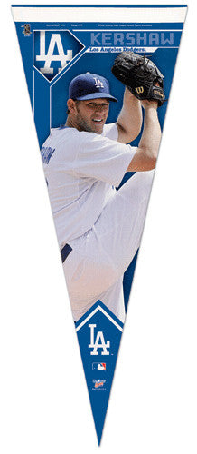 "Clayton Kershaw ""Ace"" LA Dodgers Premium Felt Collector's Pennant - Wincraft"