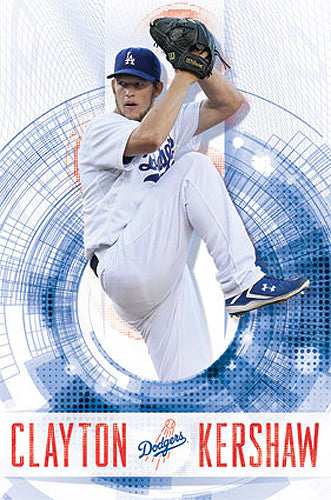 "Clayton Kershaw ""Ace"" LA Dodgers MLB Action Wall Poster - Costacos 2014"