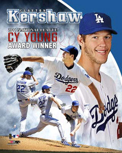 "Clayton Kershaw ""Cy Young Superstar"" LA Dodgers Premium Poster - Photofile 16x20"