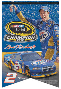"Brad Keselowski ""Celebration"" 2012 NASCAR Sprint Cup Champ Commemorative Banner"