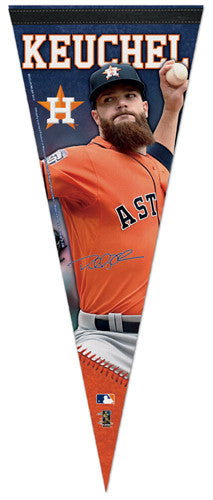 "Dallas Keuchel ""Signature Series"" Houston Astros Official MLB Premium Felt Pennant - Wincraft Inc."