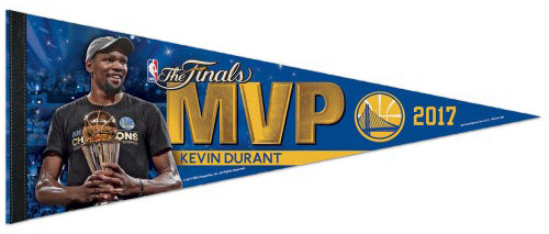 55b66027e6af Kevin Durant Golden State Warriors 2017 NBA Finals MVP Commemorative Premium  Felt Pennant – Sports Poster Warehouse