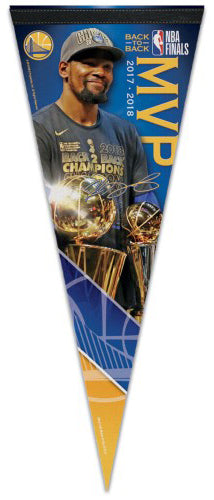 41138691ab2f Kevin Durant Golden State Warriors 2018 NBA Finals MVP Commemorative Premium  Felt Pennant – Sports Poster Warehouse